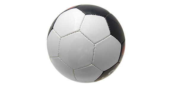 Cool Official Leather Black and White Soccer Ball Football Size 5