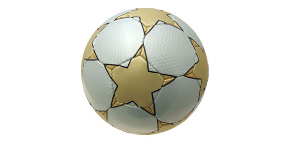 Golden Stars Pattern Soccer Ball Football Official Size 5