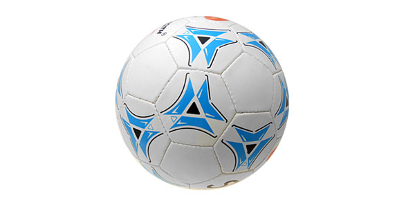 Unique Official Leather Soccer Ball Football Size 5 White and Blue