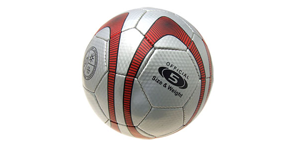 Red Silver Soccer Ball Football Official Size 5