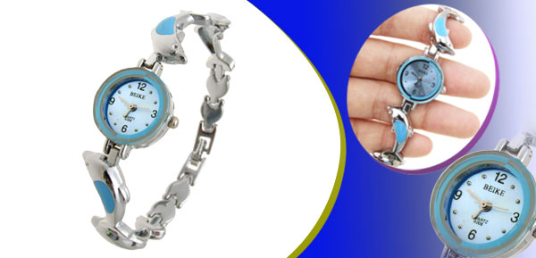 Charm Dolphin Womens Bracelet Watch