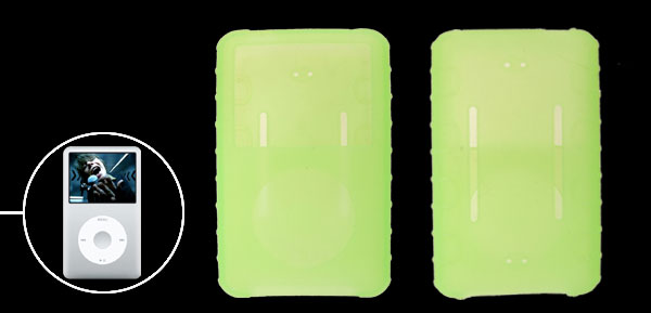 Rubber Green Silicone Skin Case for iPod Classic 80GB