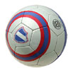 New Cool Blue Silver Stripe Soccer Ball Football Official Size 5