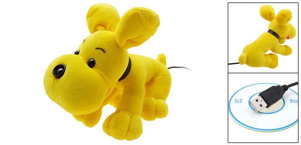 Fur  Yellow Dog USB PC Video Webcam Camera