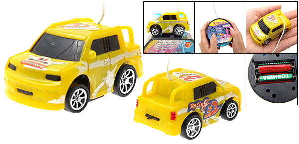 Super Mini Small Remote Control Racing Car Toy Yellow