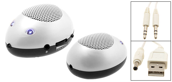 Lovely Mini Mouse Speaker Sound Box for iPod MP3 MP4 PC White