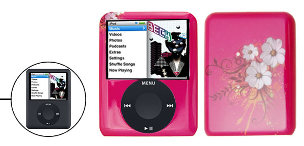 Peach Blossom Hard Plastic Case for Apple iPod Nano 3rd Generation