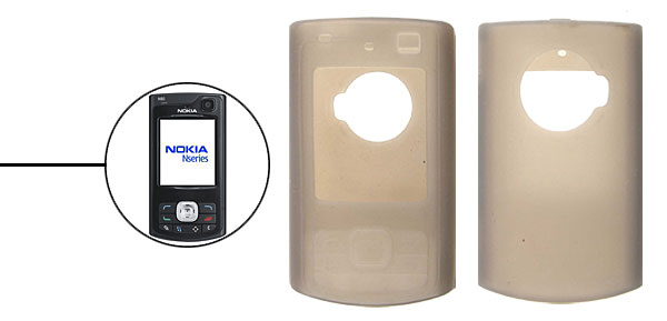 Silicone Skin Case Cover for Nokia N80 Gray
