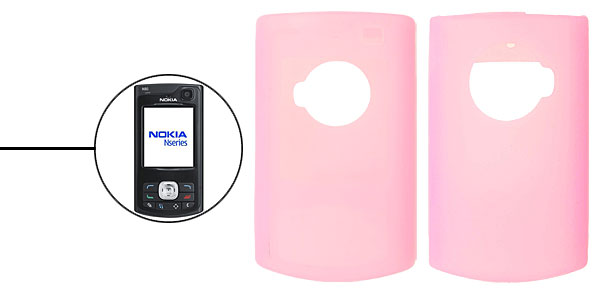 Stylish Silicone Skin Case Cover for Nokia N80 Pink