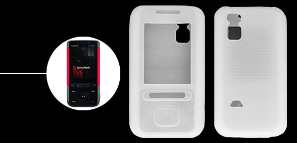 Silicone Skin Case Cover for Nokia 5610 XpressMusic White