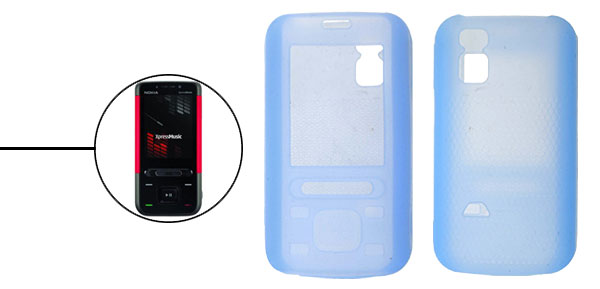 Light Blue Silicone Skin Case Cover for Nokia 5610 XpressMusic