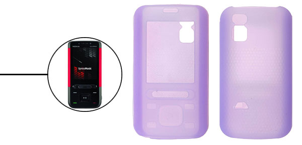 Silicone Skin Case Cover for Nokia 5610 XpressMusic Lilac
