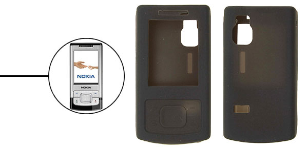 Silicone Skin Protect Case Cover for Nokia 6500s Black