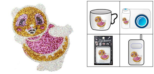 Colorful Duck Model Crystal Flash Art Sticker