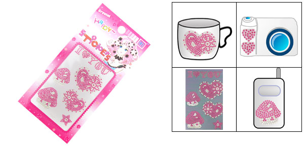 Mushroom Pattern Amaranth Pink Art Sticker for PDA MP3 MP4