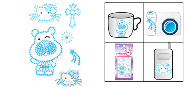 Crystal Happy Blue Cat Model Diamond Stickers