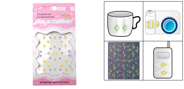 3D Design Nail Sticker Accessory