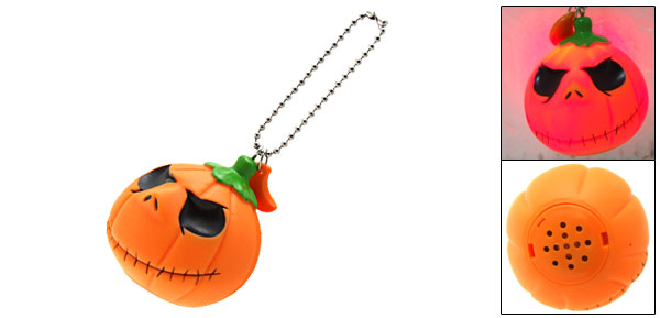 Halloween Pumpkin Horror Sound Prank Toy with Key Chain