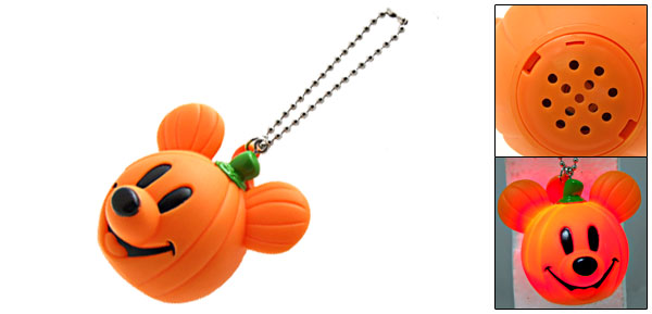 Pumpkin Mouse Halloween Horror Sound Prank Toy with Key Chain