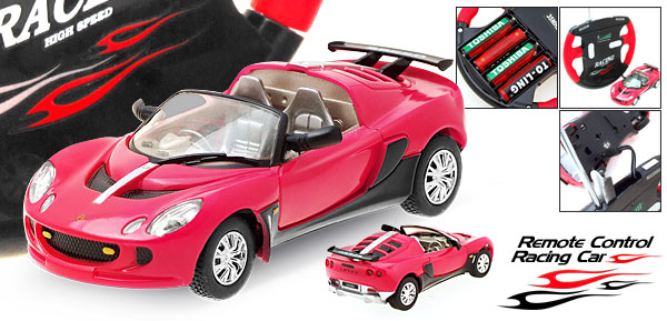 Toy Red RC Remote Control Racing Convertible Car