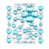 Crystal Blue Heart Art Sticker for Notebook Fridge Cup