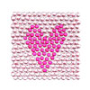 Amaranth Pink Heart Pattern Art Sticker for PDA Cell Phone iPod