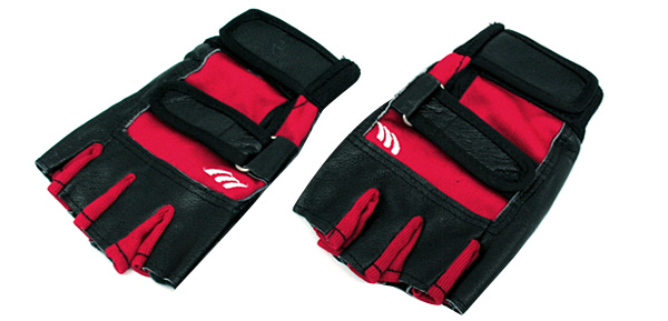 Half Finger Red Protective Sports Gloves