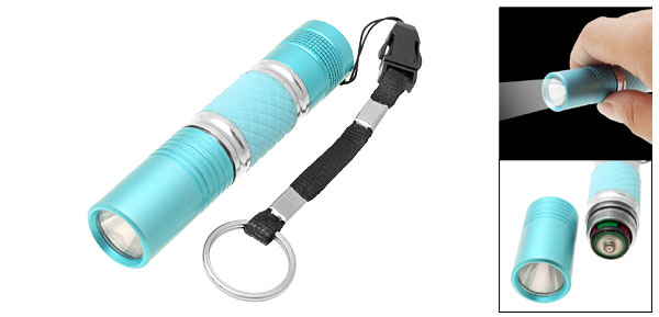 1W Mini Blue Key Chain LED Flashlight Hand Torch
