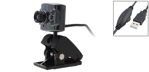 Clip Style USB PC Video Webcam Camera with 6 LED Light