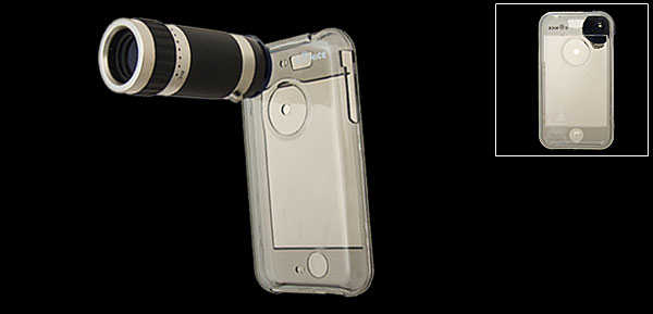 6x Zoom Telescope + Crystal Case for  Apple iPhone 1st Generation Camera