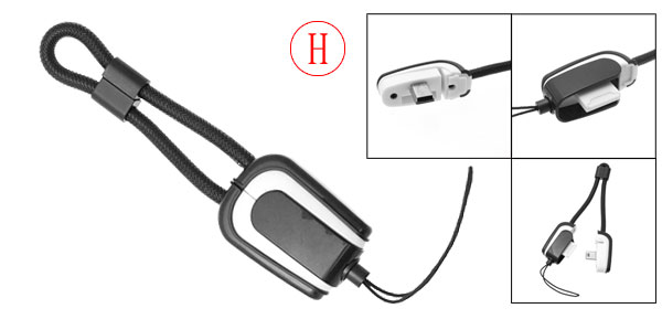 White and Black USB Charger Data Cable for Motorola V3