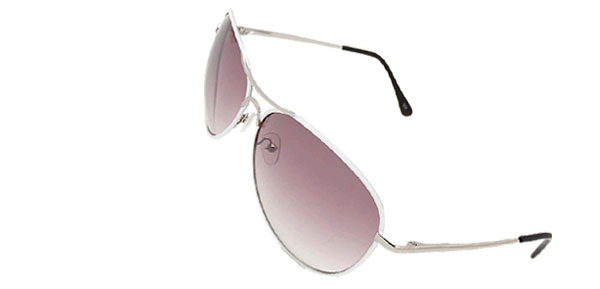 Purple Aviators in Metal Frame Unisex Fashion Sunglasses