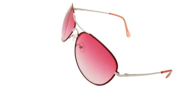 Fishing Pink Women Old Man Unisex Metal Frame Sunglasses