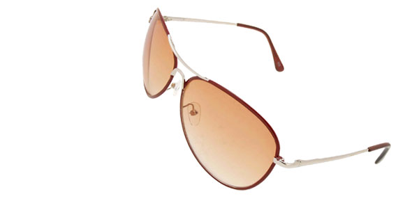 Orange Aviator Sunglasses in  Metal Frame