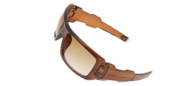Eye Wear Sport Men's Coffee Large Sunglasses