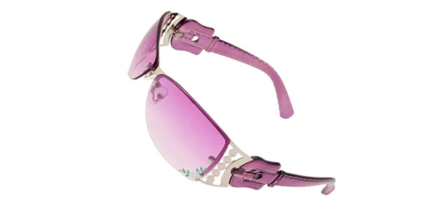 Purple Stylish Metal Frame Flower Girls Womans Sports Sunglasses