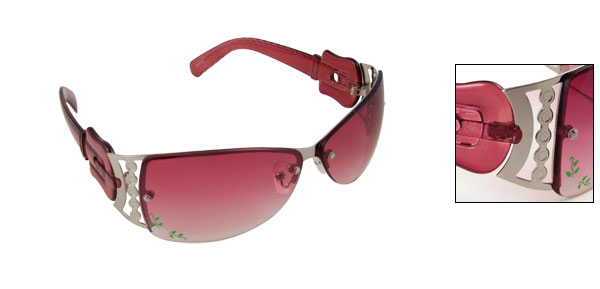 Radiance Stylish Metal Frame Flower Sports Womans Sunglasses