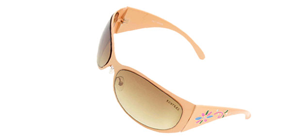 Amber Womans Stylish Flower Girls Fashion Metal Frame Sunglasses