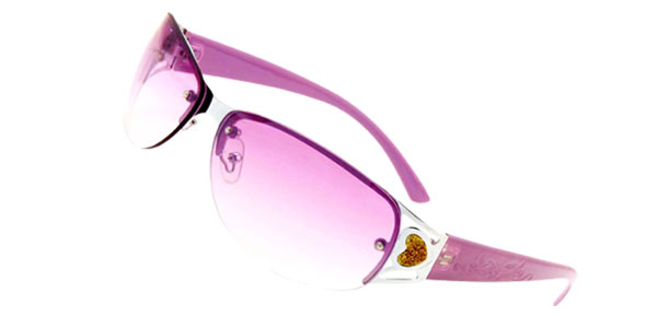 Purple Metal Frame Girls Ladies Sunglasses
