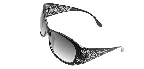 Outdoors Lady Women Black Plastic Frame Sunglasses