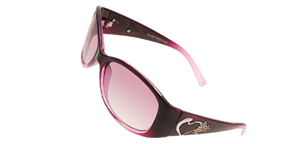 Heart Purple Stylish Girls Womans Sports Sunglasses