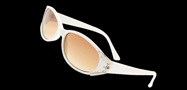 White Frame Girls Womans Rhinestone Sunglasses