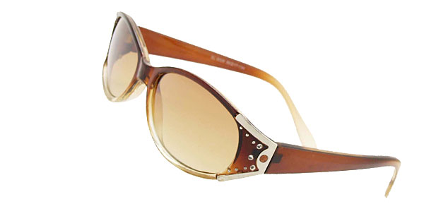 Stylish Brown Crystal Girls Fashion Sunglasses