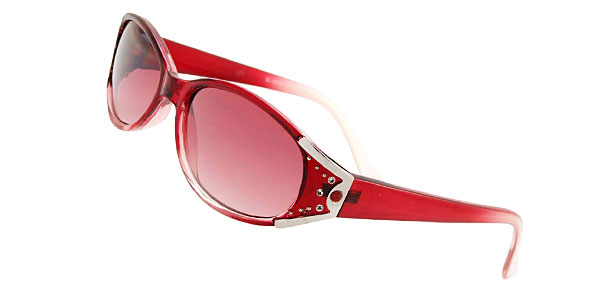 Stylish Rhinestone Frame Girls Fashion Pink Sunglasses