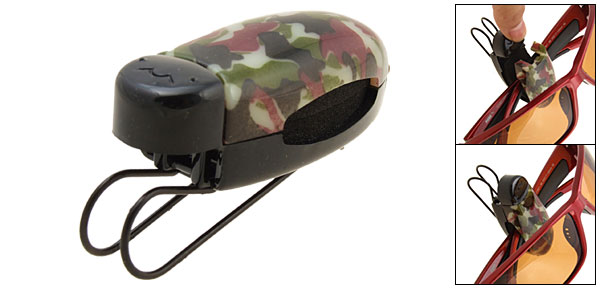 Ladybug Eyeglass Sunglasses Visor Holder Clip - camouflage