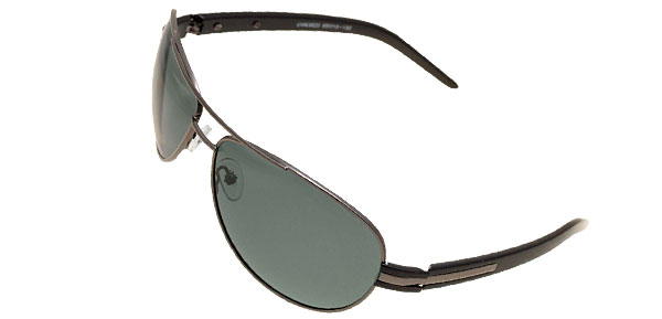 Aviator Style Gray Metal Frame Polarized Sports Motorcycle Sunglasses