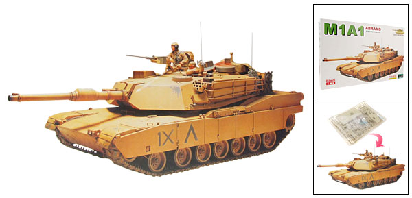 Cool U.S. M1A1 Abrams Main Tank Model 1:48 DIY Toy