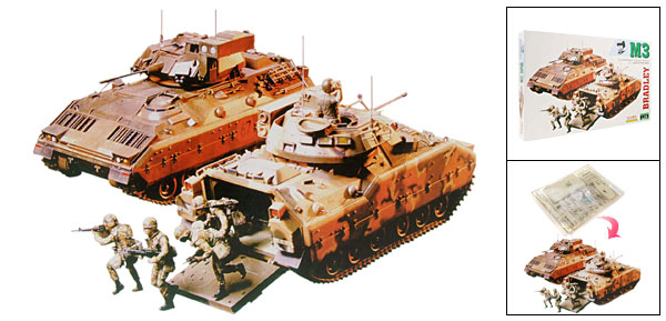 US M3 Bradley Cavalry Vehicle Tank Model DIY Toy
