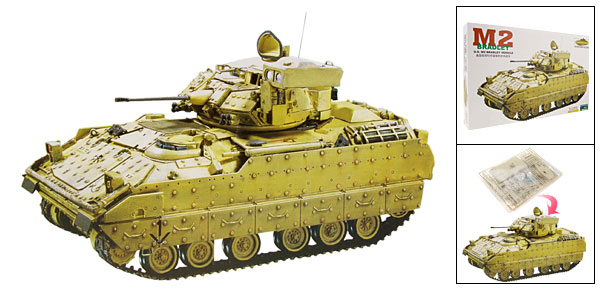 DIY Toy U.S M2 Bradley Vehicle Tank Model 1:48