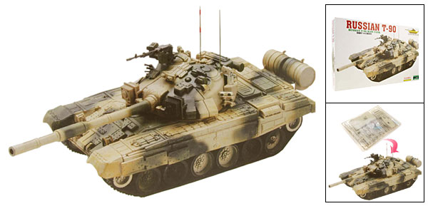 Russian Main Tank T-90 Model DIY Toy for Arms Lover